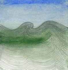 Linear Meditation 3, 1991, mixed media, pen, ink on paper Wilhelmina Barns-Graham