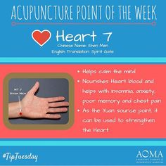 #TipTuesday: #Acupuncture Point of the Week, ❤️Heart 7! #integrativelife
