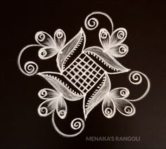 Easy And Beautiful Rangoli Design For Ganesha Festival Simple Rangoli Border Designs, Indian Rangoli Designs, Rangoli Designs Latest, Rangoli Designs Flower, Rangoli Patterns, Free Hand Rangoli Design, Small Rangoli Design, Rangoli Ideas, Rangoli Designs With Dots