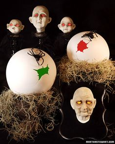 Beware what hatches from these ghoulish-looking spider eggs.