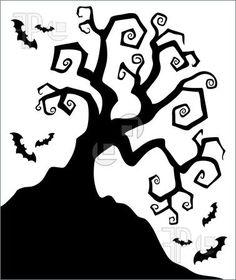 halloween tree silhouettes - Google Search