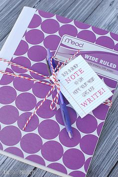 Cute Notebook Gift & Tag