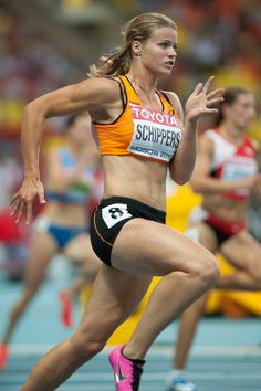 Dafne Schippers - former heptathlete, excellent second in 100 metres final at Beijing World Athletics Championships.