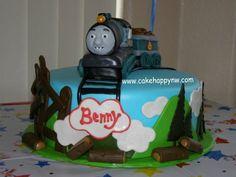 Ferdinand from Thomas the Train themed Cake by www.cakehappynw.com