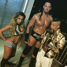 Carmella, Big Cass, and Enzo Amore