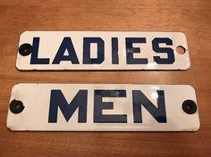 Bathroom Signs Ebay detalles acerca de vintage original sunoco gasolinera hombres