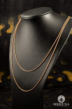 40251250655 Jewelry Gold chain pink gold chain pink gold-1.5 mm- Rope Chain Pink Gold