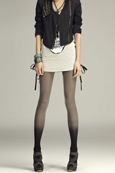 #Romwomen Gradient Color Unique Tights