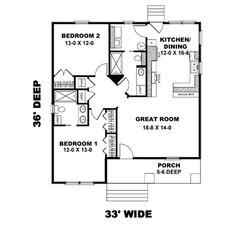 Main Floor   1073 sf     2 bedrooms