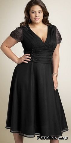 Красивые и модные модели платьев размера plus size