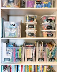 craft room ideas \ craft room ideas - craft room organization - craft room storage - craft room design - craft room - craft room office - craft room ideas on a budget - craft room decor Craft Closet Organization, Craft Room Storage, Organizing Art Supplies, Office Supply Organization, Art Supplies Storage, Arts And Crafts Storage, Organising, Organizing Kids Toys, School Supply Storage