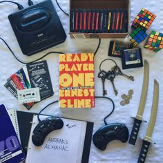 Distiller: Hikari Loftus Stars Ready Player One by Ernest Cline 400 pages Broadway Books; Ready Player One Merchandise, Ready Player One Book, Geeks, Gamer Meme, Gamer Tags, Gamer 4 Life, Player 1, Fandoms, Cultura Pop