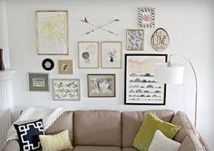 Modern Gallery Wall - modern - Living Room - Kansas City - Heather Freeman Design Co. - houzz