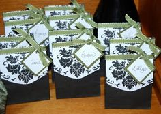 Damask Favor Boxes/Table Escort Cards