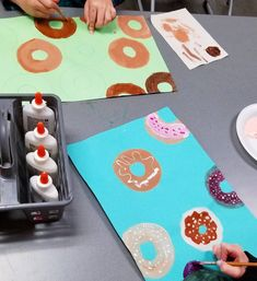 I'm jumping on the donut bandwagon! 🍩 4th grade is getting fancy over here with their toppings.. pretty sure there's a jalapeno donut in…