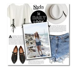 """""""Shein -top-"""" by dolly-valkyrie ❤ liked on Polyvore featuring Levi's, Calypso Private Label, Sheinside and shein"""