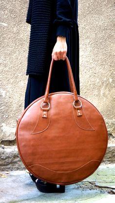 NEW Dark Pumpkin Genuine Leather Bag / High