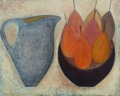 'Blue Jug with 7 Apples' by Vivienne Williams