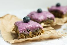 OatmealBlueberryBars Oatmeal Bars with Blueberry Frosting