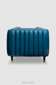 Electra Exterior Channel-Tufted Mid-Century Modern Sofa Mid Century Modern Sofa, Tufted Chair, Fabric Armchairs, Blue Furniture, Love Blue, Quality Furniture, Blue Velvet, Blue Fabric, Fresco
