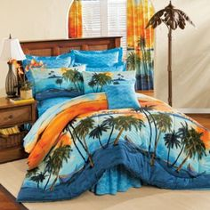 Make your Bedroom a Paradise with Tropical Bedding Tropical Bedding, Tropical Bedrooms, Beach Bedding, Tropical Houses, Tropical Decor, Hawaiian Bedroom, Bedroom Themes, Bedroom Ideas, Beach Room