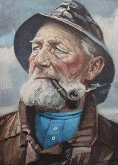 I have a painting of an old fisherman smoking a pipe. I have tried to research this painting and what I have found is - Answered by a verified Appraiser Fishermans Friend, Old Fisherman, Sea Captain, Vintage Art Prints, Sea Art, Gaucho, Cthulhu, Old Men, Sailing Ships