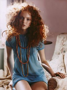 Lily Cole. Pretty ginger :p love the dress!