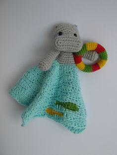 Ravelry: Swimming Hippo Lovey pattern by Justyna Kacprzak.