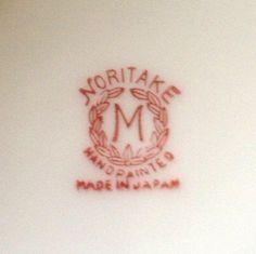 Noritake Backstamps | Original Noritake mark (backstamp). Fakes from China have been able to ...