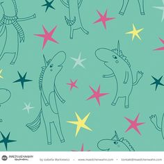 Wochenende! Party Time.... oder was sind eure Pläne?  #maedchenwahnillustration #patterndesign #surfacedesign #einhorn #unicorn #stardesign #surface #designer #fabriclove  #mustermacher #freelancer #verpackungsdesign