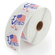 """Kids Vote Too!"" Stickers"