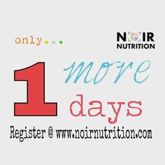 "Only 1 more and we begin NOIR Nutrition!!! Our team is extra GEEKED... Don't Forget your space is NOT reserved until you Sign Up online @ http://ift.tt/1KAhxHJ <We have a lot of dope & amazing people ""attending"" but not registerd. 1st 50 at no cost..then we have to close free registrationTeam NOIR Nutrition  Katia J. Powell OFFICIAL Nutrition Geek & Expert in Health and Fitness Wholistic Health Practitioner CEO/Founder of FitBodySquad President/Co-Founderof Techtrition ""Lost 200lbs & Kept it…"