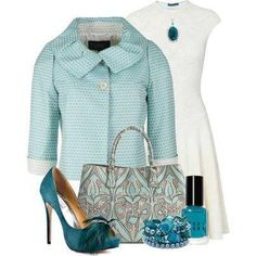 #turquoise outfit