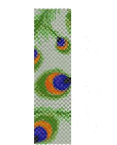 Peacock Pattern - Peyote Bracelet Cuff Pattern - Buy two patterns and get the…