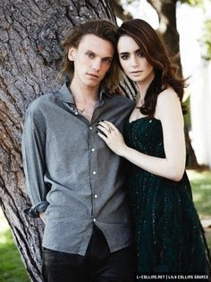 Photo Shoot: Lily Collins, Jamie Campbell Bower + Robert Sheehan