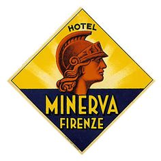Firenze - Hotel Minerva Luggage Labels, Luggage Stickers, Book Wedding Centerpieces, Craft Images, Vintage Hotels, Hand Drawn Type, Vintage Fashion Photography, Vintage Party, Background Vintage