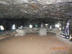 Espaço para degustação dentro da mina do Ametista Parque Museu!!!