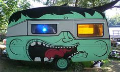 If your not so creative or on a budget; find a handsome graffiti artist who gives your caravan a nice make over. Some youngsters starting out do this job for free if you pay them the materials. Ex from Aarhus (Denmark)