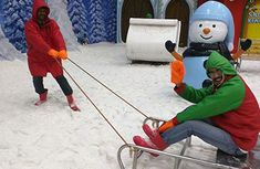 Lot of Things to do in Chennai with your family , Visit VGP Snow Kingdom is a best theme parks in Chennai