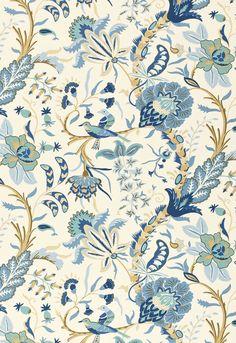 Fabric | Westbourne Grove in Azure | Schumacher
