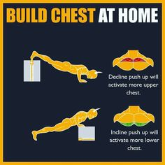 Does your chest resemble a sheet of plywood instead of the mountains of muscle you have always wanted? Do you spend countless hours on the bench press with no gains in size? Have you started to think. Chest Workout For Men, Chest Workout Routine, Home Workout Men, Chest Workouts, Chest Exercises, Gym Workout Chart, Gym Workout Videos, Fitness Workouts, Weight Training Workouts