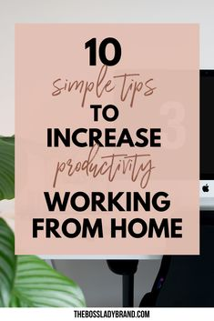 Here are 10 productivity tips for working from home! Working from home can easily be distracting, but these tips will help increase your productivity. Many people are interested in work from home jobs. These tips will help you keep your job! Covering everything from a successful morning routine to time blocking #productivitytips #timemanagement #workfromhome #makemoneyonline