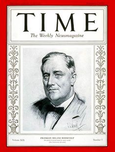 1941 TIME Magazine Person of the Year - Franklin Delano Roosevelt.  Roosevelt was the only person to have been giving the cover 3 times.  He is seen here signing declaration of war against Japan