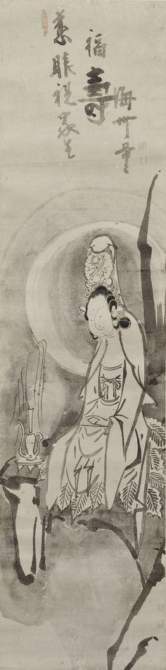 """Hakuin Ekaku """"White-robed Kannon"""""""