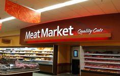 Interior Market Design   Market Decor Design   Meat Area Design   Interior Market Upgrade   Grocery Store Design by I-5 Design & Manufacture