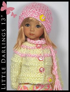 "Pink  Yellow Outfit for Little Darlings Effner 13"" by Maggie and Kate Create"