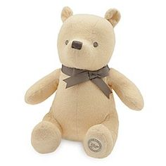 Winnie the Pooh Classic Plush for Baby - Small - 11'' | Disney Store Baby's first Winnie the Pooh plush toy is a silly ol' bear stuffed with fluff and inspired by the original classic book illustrations. Special pastel coloring appeals to Baby's developing eyes.