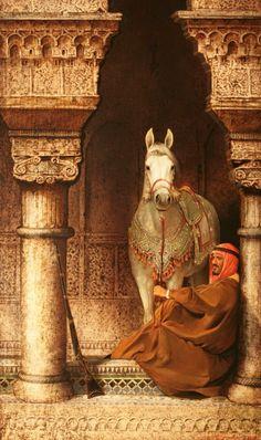 ♫ (Dig Art Photography, Arabian horse with Arabian man,I believe is from Morocco) Stanislav Plutenko Arabian Nights, Jean Leon, Empire Ottoman, Arabian Art, Arabian Beauty, Islamic Paintings, Horse Art, Islamic Art, Beautiful Horses