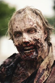 """Greg Nicotero as a walker for episode 3x09 """"The Suicide King""""."""
