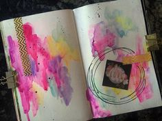 Cheflinds | Quick & Instinctive Journalling | Season of Happy | Get Messy Art Journal